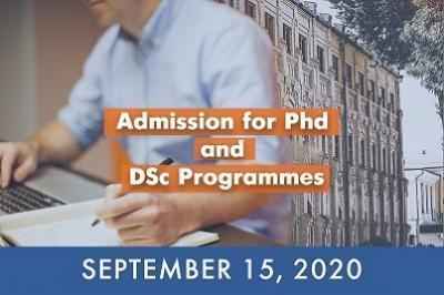 Apply for PhD and DSc programmes