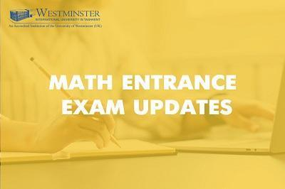 Math Entrance Exam Updates